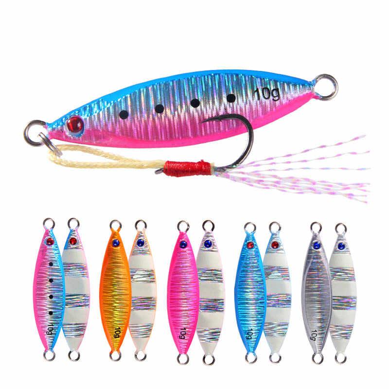 LMEIQUN Mini Micro Blei Metall Jig 5g 10g 14g 21g Shore Fishing Long Cast leuchtende Jigging Lure L/öffel Meerwasser K/öder Angelger/ät Farbe : Color001, Gr/ö/ße : 32mm 5g