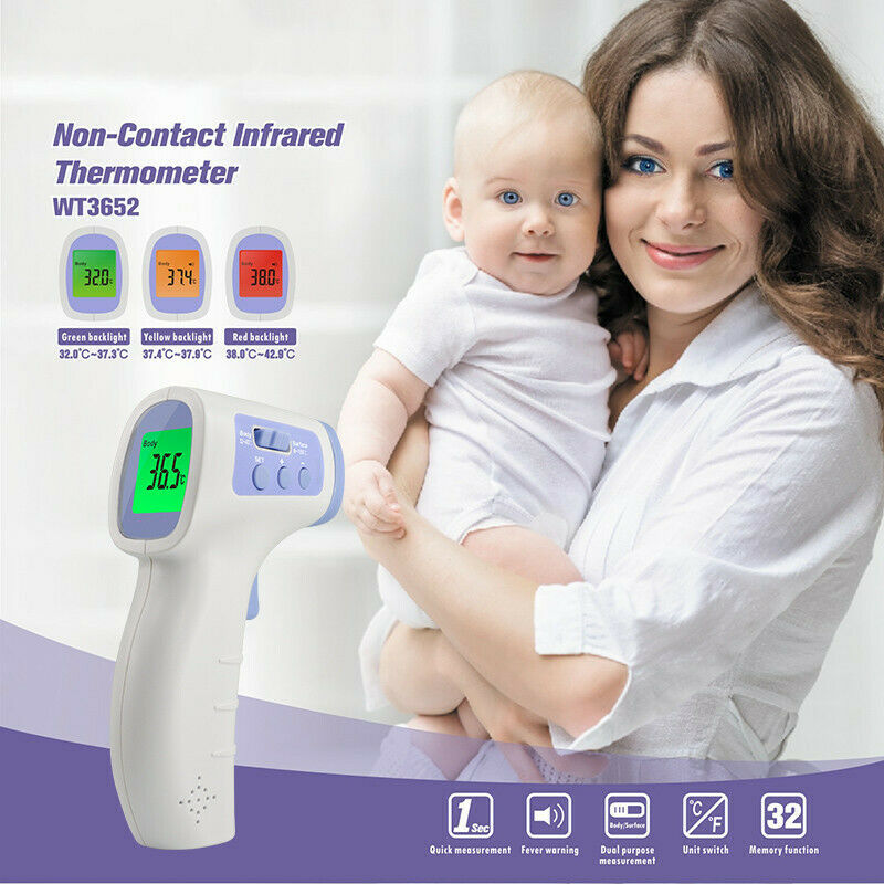 IR Infrared Digital Forehead Thermometer Non-contact Infrared Human Body Thermometer Baby/Adult Body Thermometers