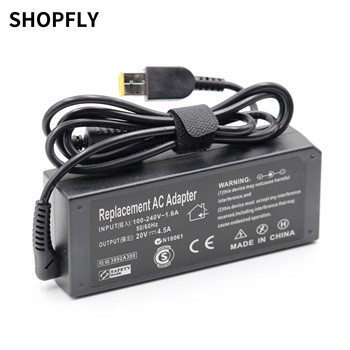 20V 4.5A Squre USB Power Supply Adapter Laptop Charger for Lenovo ThinkPad T460s Notebook PC R20 genuine fru 00hm971 vilt2 nm a131 laptop motherboard for lenovo thinkpad t440p notebook pc