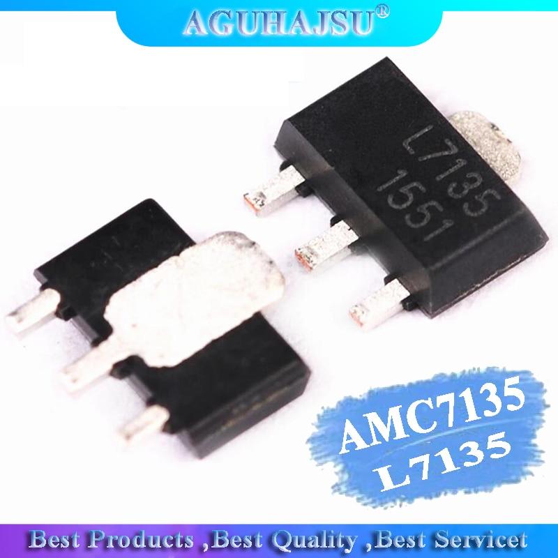 10pcs AMC7135PKFT SOT89 AMC7135 MEL7135 SOT New And Original