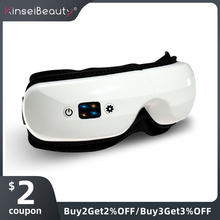 Electric Vibration Bluetooth Eye Massager Eye Care Device Wrinkle Fatigue Relieve Sleeping Eye mask Hot Compressing Eye Cover недорого