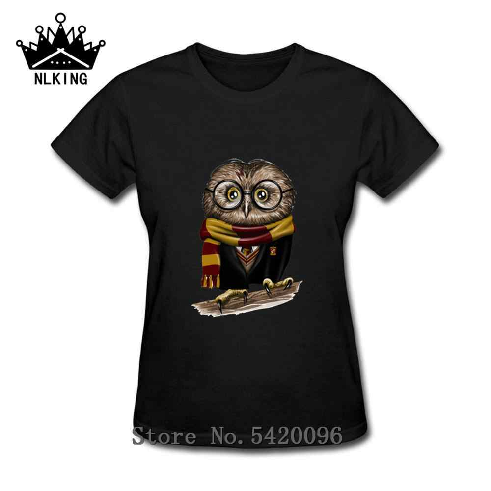 Fashion Di Cabang Lucu Burung Hantu T-shirt Meniru Fashion Cute Harry Owl T-shirt Retro Owl T-shirt Wanita Animal Print t-shirt