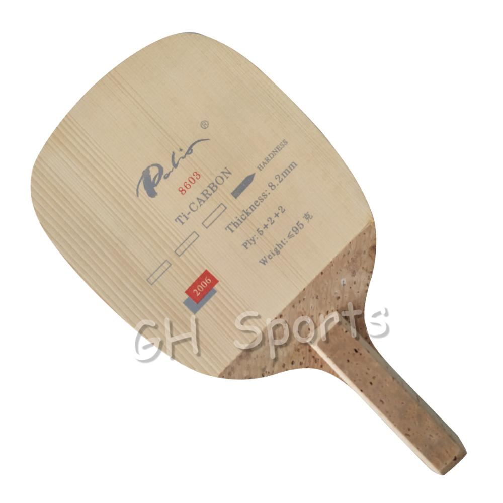 Palio Carbon + Titanium JS Japanese Penhold Racket Table Tennis Blade Ping Pong Bat Tenis De Mesa Paddle