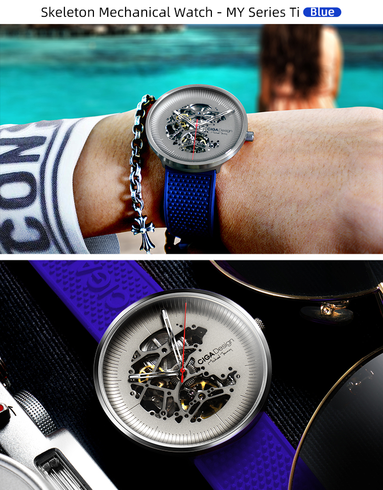 H02782608d7784221999fa9264ee52f310 CIGA DSIGN MY Series Titanium Dial Watch Automatic Mechanical