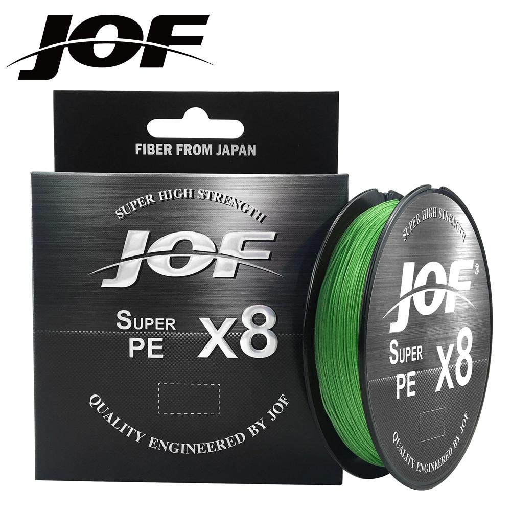 Jof X8 Sterke 300M 500M 8 Streng Weeft Pe Gevlochten Vislijn Multifilament 15LB 20LB 30LB 40LB 50LB 60LB 80LB 100LB