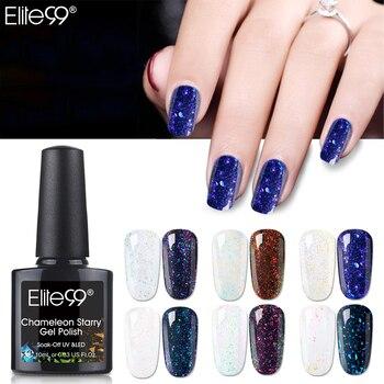 Elite99 10ml Chameleon Starry UV Gel Nagellack Schwarz Basis Benötigt Glitter Nail art Gel Lack Tränken Weg Von DIY nägel Gel Polnisch