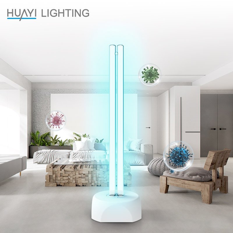HUAYI Sterilized Home Disinfection Lamp 38 W UV Ozone Germicidal Lamp Pure White