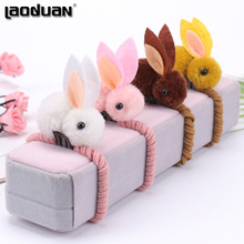 Hair-Ring Animals Rabbit-Style Girls Hairball Cute Children Plush Felt 1PC for Three-Dimensional