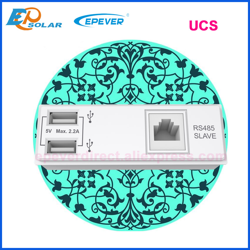 EPever MPPT 30A 20A 10A Modulare Gestaltete Solar Ladegerät 12V 24V Auto mit DS1 und UCS Modul dual USB 5V TRIRON1206N 2206N 3210N