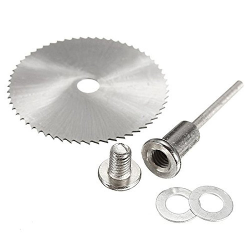 6Pcs HSS Circular Saw Blade + 1Pcs HSS Circular Rotary Blade Wheel Discs Mandrel For Wood Cutting Saws Tool Accessories Kit Saws