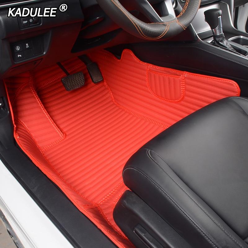 KADULEE Custom Leather Car Floor Foot Mat For Peugeot 308 206 408 508 5008 301 2008 307 207 3008 2012 Waterproof Car Foot Mats