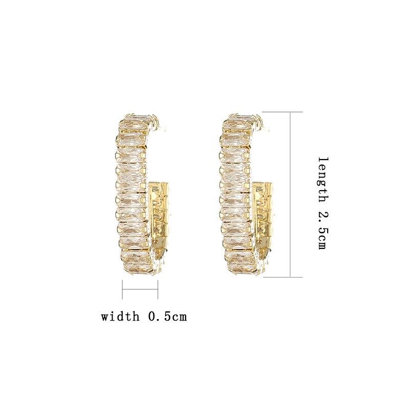 Boucles d'oreilles rondes en Zircon coréen 14k pour femmes, bijoux de tempérament 6