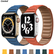 Leather Link for Apple watch band 44mm 40mm 38mm 42mm 1 1 Original watchabnd Magnetic Loop bracelet iWatch seires 5 4 SE 6 strap cheap NoEnName_Null CN(Origin) Other Watchbands New with tags for applewatch applle aple aplle i watch 5 4 3 2 1 44 42 40 38 mm