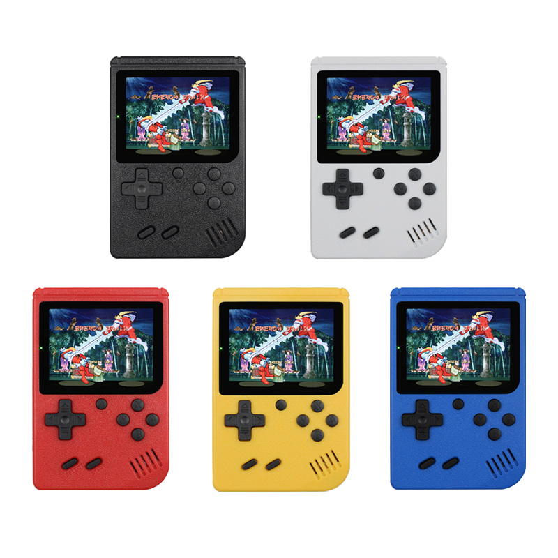 Retro Portable Mini Handheld Game Console 8-Bit 3.0 Inch Color LCD Kids Color Game Player Built-in 400 games image