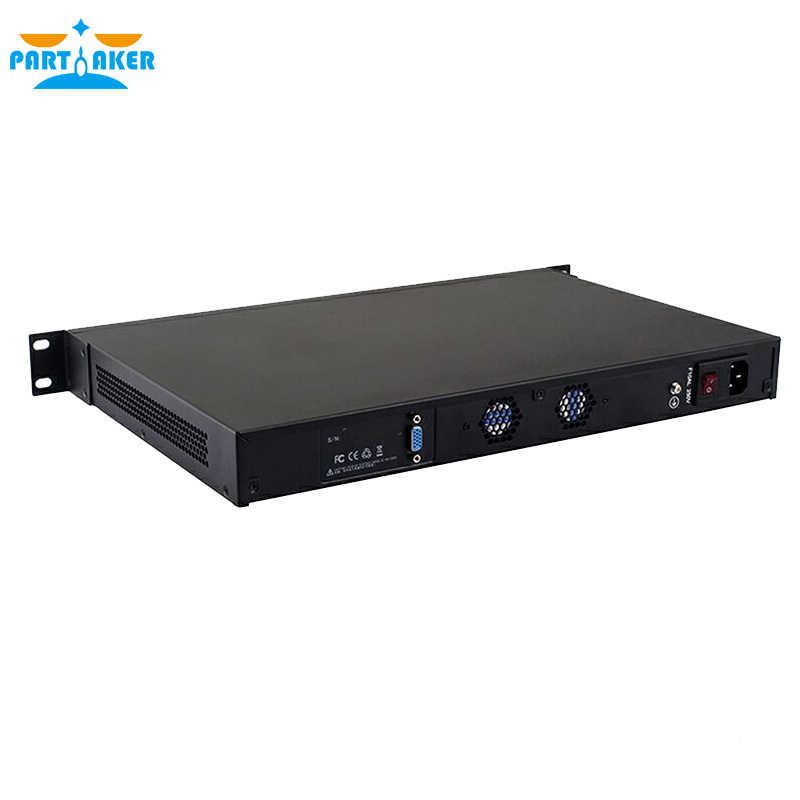 بارتاكر 1U جهاز جدار الحماية خادم الشبكة R11 i5 2520M 6 LAN 4G RAM 64G SSD راوتر OS الدعم