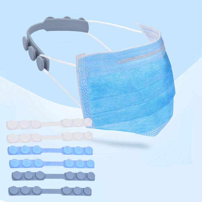 6pcs/pack Non-Slip Face Cover Hook Silicone Mask Ear Protectors Buckle Wear Face Mask Holder Extension Buckle Short Belt Adjust