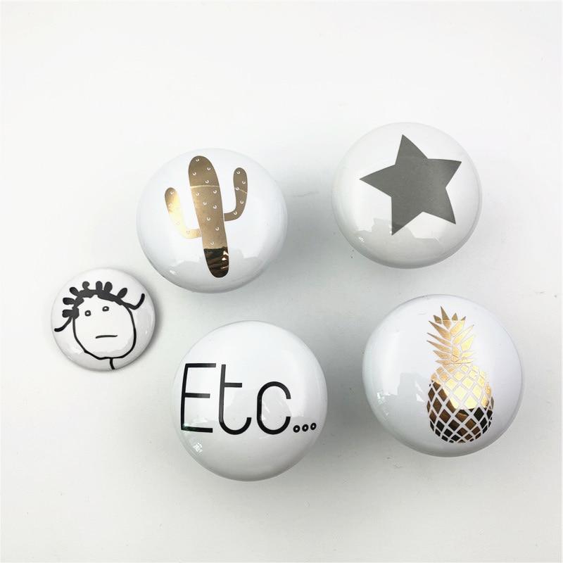 LCH Instagram Style 58mm Ceramic White pineapple Etc ceramic Clothes hook Cabinet Handle Door Pull C