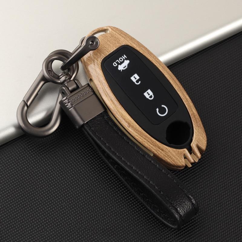 Zinc Alloy Retro Car Key Case Cover For Nissan Qashqai J10 J11 X-Trail T31 T32 Kicks Altima Tiida Juke Note Pathfinder Infiniti