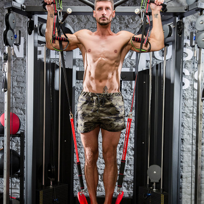 Pull-ups Training Device Indoor Horizontal Bar Auxiliary Belt Elastic Rope Resistance Band Arm Force Fitness Equipment