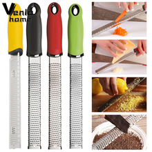 Multi-purpose Vegetable Spiralizer Lemon Zester Fruit Peeler Cheese Zester Microplane Grater Stainless Steel Fruit Kitchen Tool