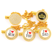 Handmade Bling Bling Pacifier Clip Pacifier Chain Holder Dummy Clip Metal Chain For Infant Baby Feeding wood pacifier clip metal dummy clip nature football pattern pacifier chain soother holder baby feeding clips attache sucette