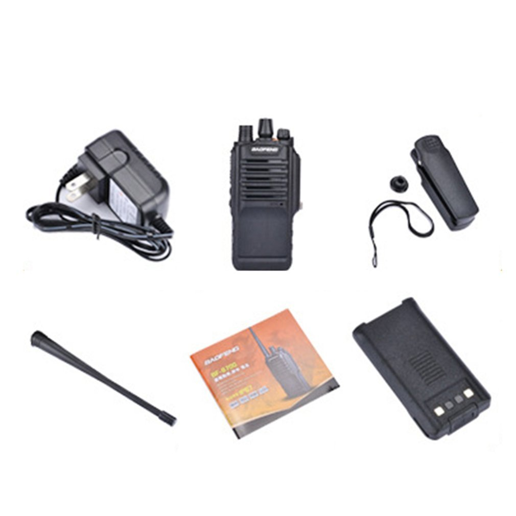 Handheld Portable Walkie Talkie With Microphone Radio Communicator Audio Transceiver For Outdoor Hunting Camping