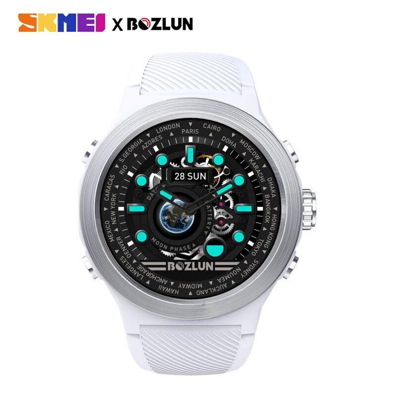 Pantalla LED SKMEI para hombre reloj Digital calorías Monitor de ritmo cardíaco pasos relojes deportivos Montre Homme reloj Masculino W31 - 2