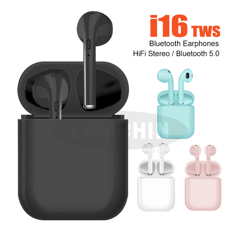 Hot Sale  I16 TWS 1:1 Bluetooth 5.0 Earphone Wireless Earbuds With Mic Charging Box Earphones For IPhone Pk  I12 I13 I14 I15 Tws