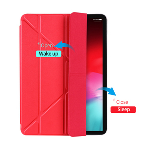 Image 2 - for iPad Pro 11 Case Pro 12.9 2018 Magnetic Case Funda Support Wireless Charging for Apple Pencil PU Leather Smart Case