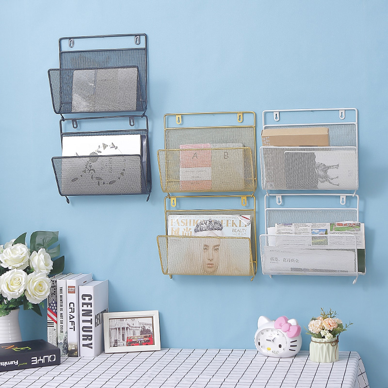 Modern Simple Creative Wall-hanging Newspaper Shelf Wall And Home Magazine Rack