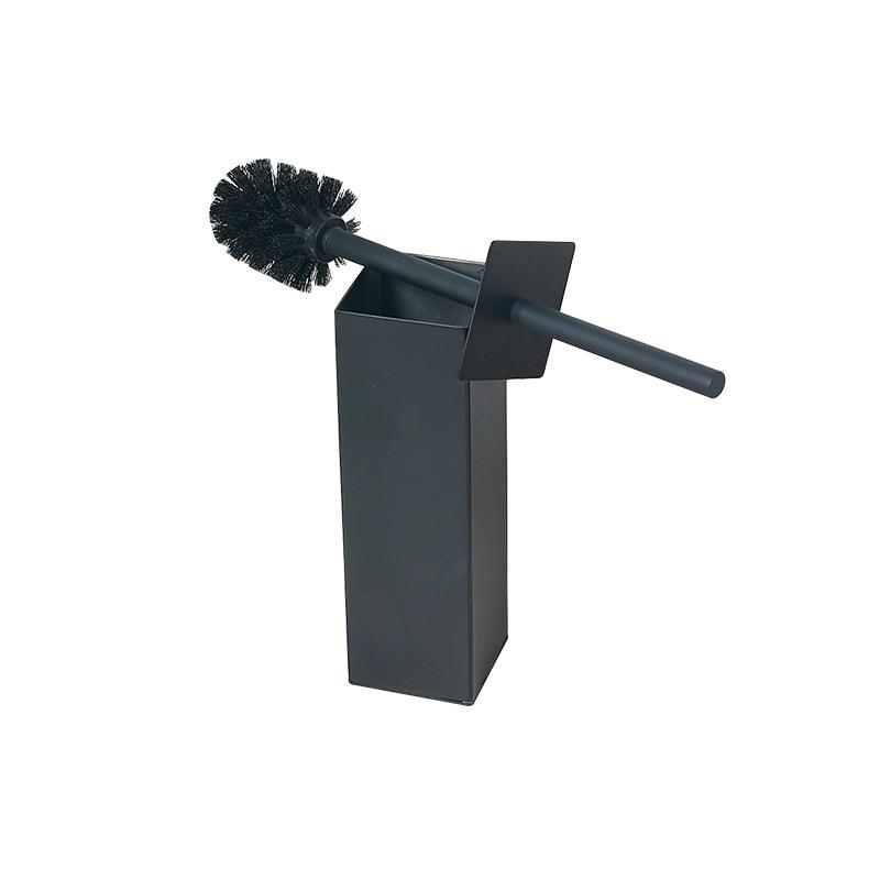 Vidric Carlisle Matt Black Bathroom Toilet Brush Toilet Cleaning Brush Body 304 Stainless Steel Without Dead
