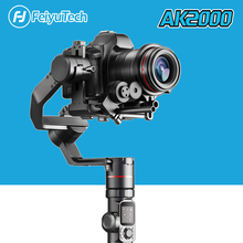 Original em estoque feiyutech ak2000 handhel cardan 3 eixos estabilizador para panasonic gh5 sony canon 5d nikon câmera feiyu