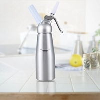 New 1000Ml Aluminum Cream Dispenser, Gourmet Blender, Stainless Steel Decorative Nozzle And Plastic Pastry Tube
