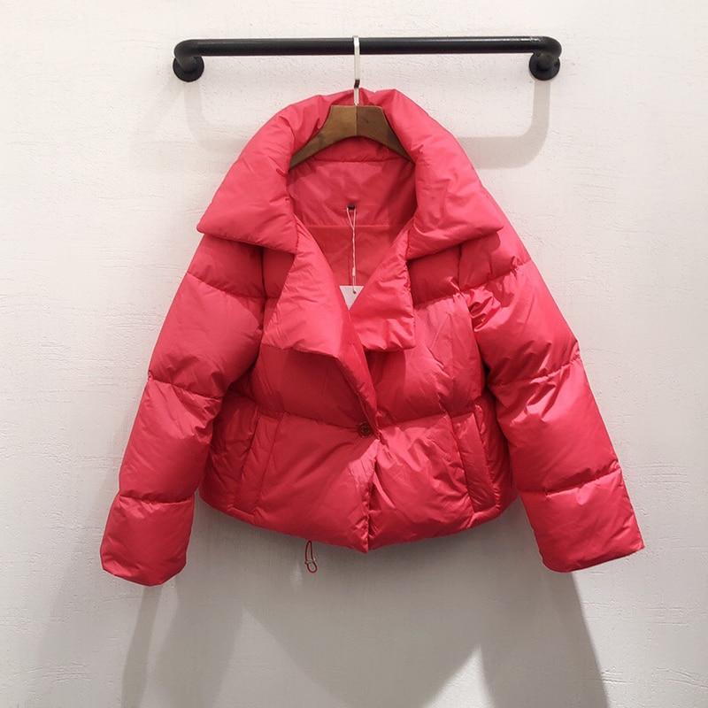 Femmes veste hiver chaud épais veste manteau 2020 femme court vestes décontracté - 2