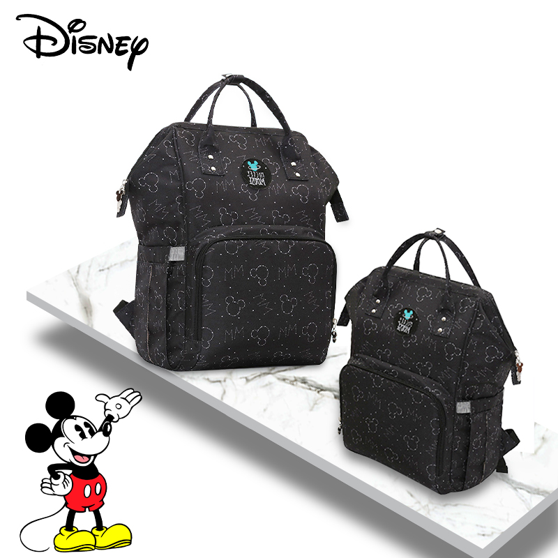 Disney Minnie Mickey Baby Diaper Bags Usb Large Capacity Mummy Diaper Bag  Baby Stroller Organizer Bag Mummy Backpack Hook Bags