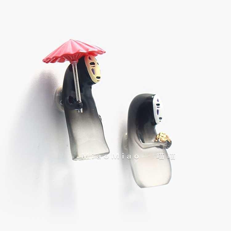 הייאו מיאזאקי Kaonashi/חסר פנים מקרר מגנט Creative חמוד קריקטורה מגנטי מגנט תכשיטי נסיעות מזכרות ילדים DIY מתנה