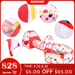 Multicolor Baby Zelt Für Kinder Faltbare Spielzeug Kinder Kunststoff Haus Spiel Spielen Aufblasbare Zelt Hof Ball Pool