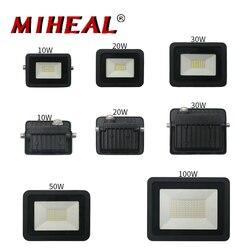 110V/220V LED Industrial Lighting 10W 20W 30W 50W 100W LED Flood Light IP68 Outdoor Wall Lamp Factory Workshop Work Light