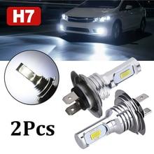 цена на OLOMM Pair H7 Car LED Headlight Kit Hi-Lo Beam Fog Lights 55W 8000LM LED Lamps/Light Bulbs For Cars Super Bright 6000K White