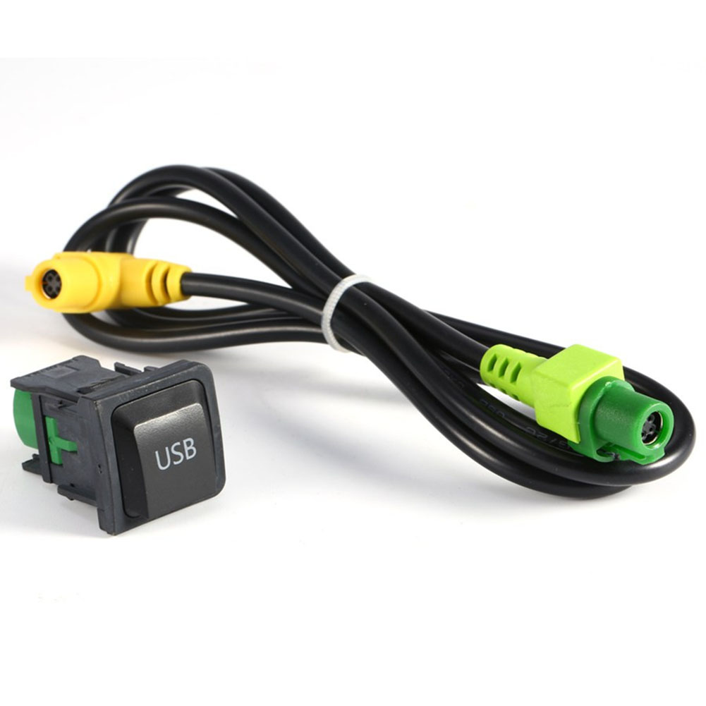 <font><b>USB</b></font> AUX Switch Cable Harness RCD510 RNS315 For V W For <font><b>Golf</b></font> MK6 For J e t t a MK5 For Sagitar For image