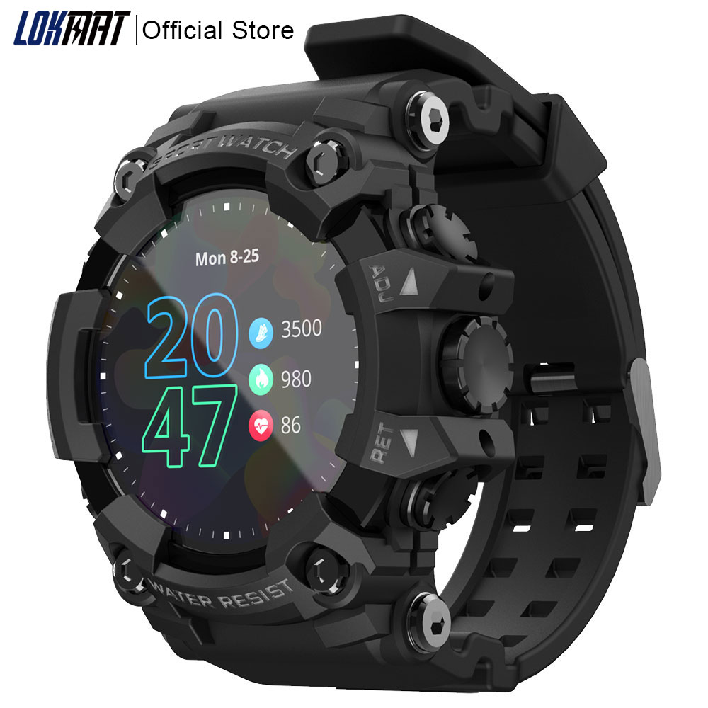 LOKMAT ATTACK Full Touch Screen Fitness Tracker Smart Watch Men Women Heart Rate Monitor Bluetooth Smartwatch For Android ios|Smart Watches| - AliExpress