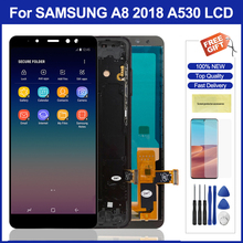 5.6 A530 Lcd With Frame For Samsung Galaxy A8 2018 A530 Lcd Display Touch Screen Digitizer Assembly Parts For Samsung A530