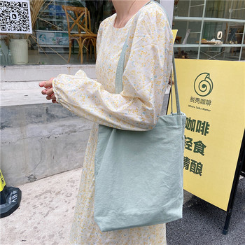 Women Canvas Shoulder Shopper Bags Eco Reusable Shopping Bag Cotton Cloth Tote Bags for Women 2020 Grocery Bag Ladies Handbags 2