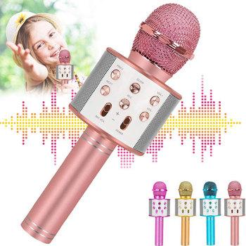 WS 858 Bluetooth mikrofon do Karaoke mikrofon bezprzewodowy profesjonalny głośnik ręczny mikrofon odtwarzacz śpiewający mikrofon Mic tanie i dobre opinie Marsnaska Other Pojedyncze Mikrofon CN (pochodzenie) Capacitive 5W*1 Echo Reverb wireless Bluetooth built-in battery 1200 mAh
