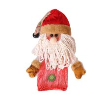 Merry Christmas Snowman/Santa Claus/Reindeer Candy Apple Bags Holders For