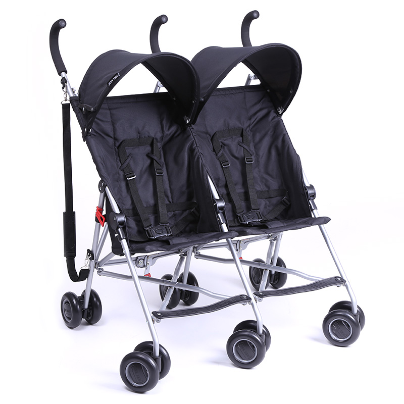 Twin Baby Cart Ultra-portable Folding Portable Double Umbrella Car Two-footed Trolley