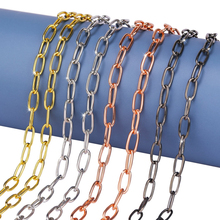 New Jewelry Link Chain Jewelry Classic Curb Necklace Stainless Steel Gold Black Silver Color Chain for Men Women Fashion Jewelry granny chic 12 15 17 19mm fashion curb cuban mens necklace chain silver gold stainless steel necklaces for men jewelry 7 40 inch