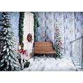 SHUOZHIKE Vinyl Wood Christmas Backgrounds For Photography Winter Snow Gift Baby Newborn Portrait Photo Backdrop
