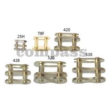 Łańcuch motocyklowy pierścień sprzączki Link 25H # T8F #420 #428 #520 #530 # złoty tanie tanio Koła Chain Buckle Iron Chain Gear