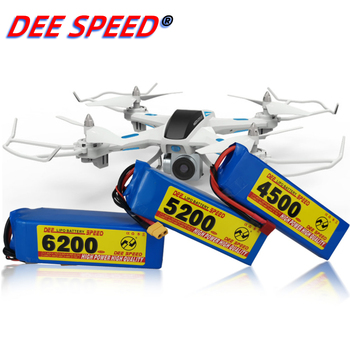 Dee 6S RC Lithium Battery 22.2V 1300 1500 1800 2200 2600 3000 3500 4200 6000mAh 25C 35C 60C for UAV Helicopter Car 6S LiPo RC image